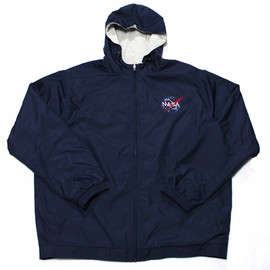 NASA - Navy Blue Kennedy Space Center Victory NASA Jacket Mens Size XL