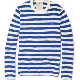 Aubin & Wills - Striped Cotton and Cashmere-Blend Sweater