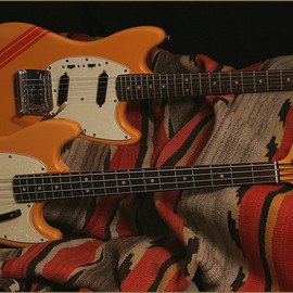 Fender USA - Mustang bass 1968 competition orange