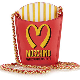 MOSCHINO - FW2014 Embroidered leather shoulder bag