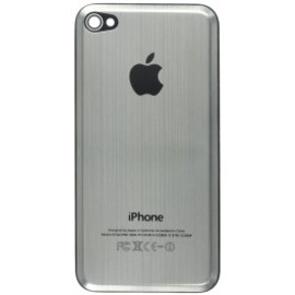 iPhone4 beveled back cover w/ metal tabs - gunmetal metal insert