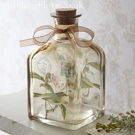 Bird Bottle with Ribbon