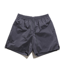AURALEE - Light Finx Polyester Shorts-Charcoal