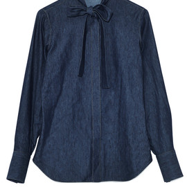 VALENTINO - Navy Light Denim Shirt