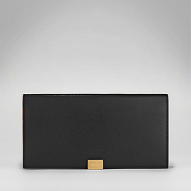 SMYTHON - SLIM TRAVEL WALLET WITH SLIDE BLACK