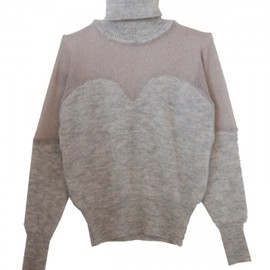 Honey mi Honey - See-through turtle neck knit