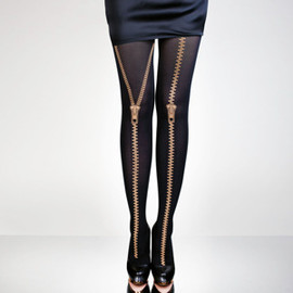 Hold Me Tights - タイツ/Golden Zippers
