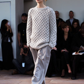 knit and wide pants