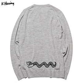 uniform experiment - KEITH HARING CREW NECK KNIT