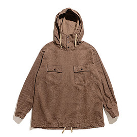 ENGINEERED GARMENTS - Cagoule Shirt-Brushed HB-Brown