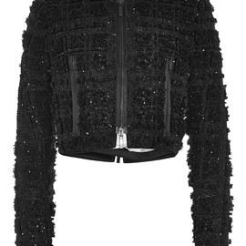 THOM BROWNE - FW2015 Embellished Collarless Jacket