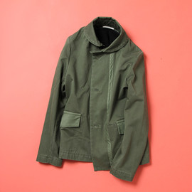 Folk - CANVAS OVERCOAT(WITH ZIP-OUT WOOL  LINER)