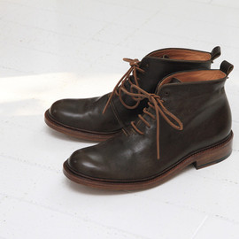 coupe - Men's short boots C01-02M dark green ¥57,750- size:24.5-27cm
