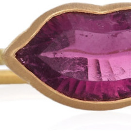 Marie-hélène De Taillac - 22karat Gold Rubelite Lips Ring in Gold