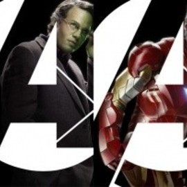 Joss Whedon - Marvel's The Avengers character banner featuring Captain America, the Hulk, Iron Man and Thor