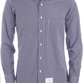 THOM BROWNE - BUTTON DOWN GINGHAM SHIRT