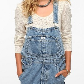 URBAN OUTFITTERS - Urban Renewal Cutoff Overall Dress
