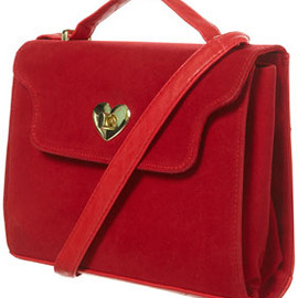 TOPSHOP - Red Heart Lock Cross Body Frame Bag