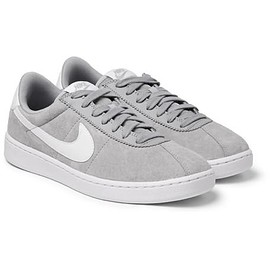 Nike - Bruin Leather-Trimmed Nubuck Sneakers