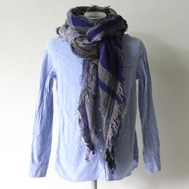 tamaki niime - tamaki niime roots shawl wool/cotton