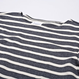 SATURDAYS SURF NYC - Serg L/S Boat Neck ( Charcoal Grey/White)