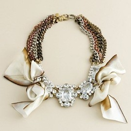 J.CREW - satin bow & bijoux Necklace