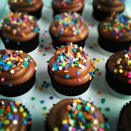 Sweetapolita - Chocolate Birthday Cupcakes with Nutella Cloud Frosting