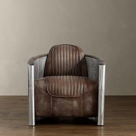 Distressed Leather Aviator Chair