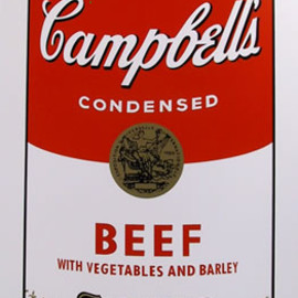 Andy Warhol - Title: Campbell Soup Can: Beef
