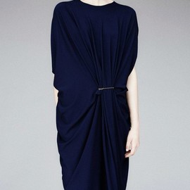 Lanvin - Lanvin Draped Pinch-Waist Kaftan Dress
