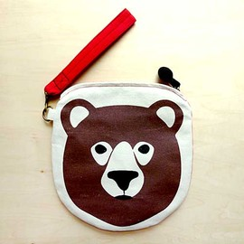 littleoddforest - Honey Bear Wrist-Pouch (Red)