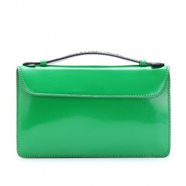 MARC BY MARC JACOBS - TWO-TONE BOXCALF LEATHER CLUTCH