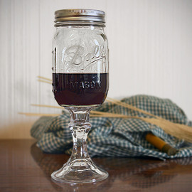 Redneck Mason Jar Wine Glass