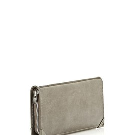ALEXANDER WANG - PRISMA COMPACT IN PUMICE SPAZZOLATO WITH RHODIUM