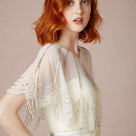 BHLDN - Trickling Capelet in Bride Bridal Cover Ups