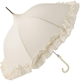 Lisbeth Dahl - Ivory Umbrella with Flounce Frill