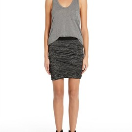 Alexander Wang - Marled Ruched Skirt Thumb