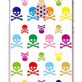 SECOND SKIN - Skull monogram ホワイト マルチ (クリア) design by ROTM / for HONEY BEE WX06K/WILLCOM