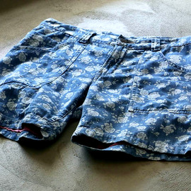 HOLLYWOOD RANCH MARKET - FLOWER DENIM SHORTS