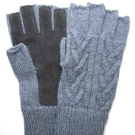 N.HOOLYWOOD - CABLE KNIT GLOVES
