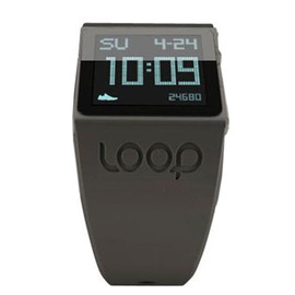 LOOP - Innovative slim mp3 Watch with silicone strap (Black)