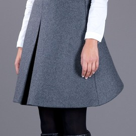 Neil Barrett - cropped a-line skirt