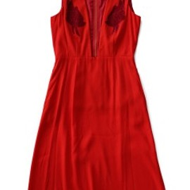 TOGA PULLA - Embroidery Georgette Dress (red)