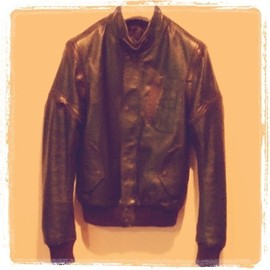 "Maison Martin Margiela - REPLICA ""berlin"" leather bomber jacket"