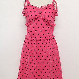 MILK - MILK Heart Pattern camisole dress pink