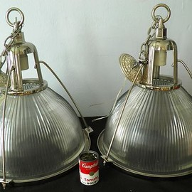 Holophane - Pair of 1930's Holophane Industrial Ceiling Light's