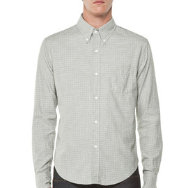 BAND OF OUTSIDERS - Tattersall Check Button Down in Grey