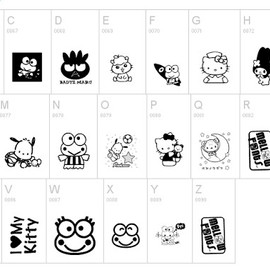 Hello Kitty Fonts - Hello Kitty Fonts
