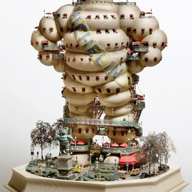 Takanori Aiba - Miniature World and Bonsai Tree Houses series