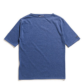 SAINT JAMES - Ouessant Light Short Sleeve-Indigo